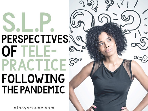 SLP Perspectives of Telepractice Following the COVID-19 Pandemic
