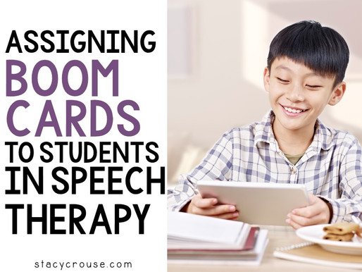 How and Why to Assign Boom Cards to Students in Speech Therapy