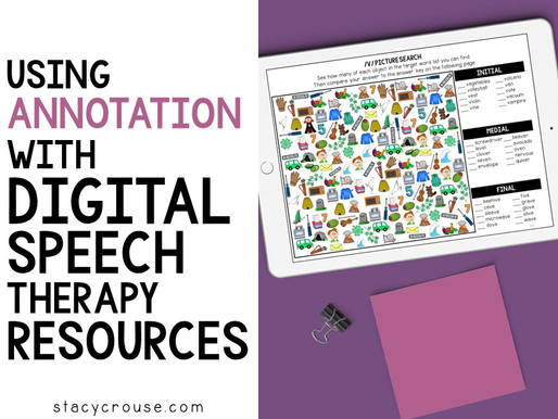 Using Annotation With Digital Speech Therapy Resources