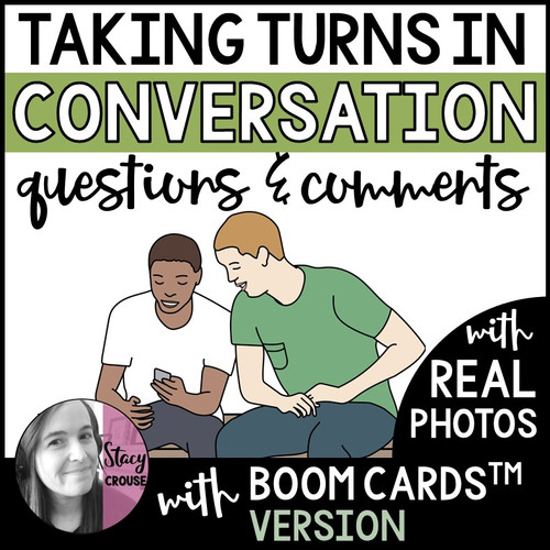 Taking Turns in Conversation Questions and Comments with BOOM CARDS™