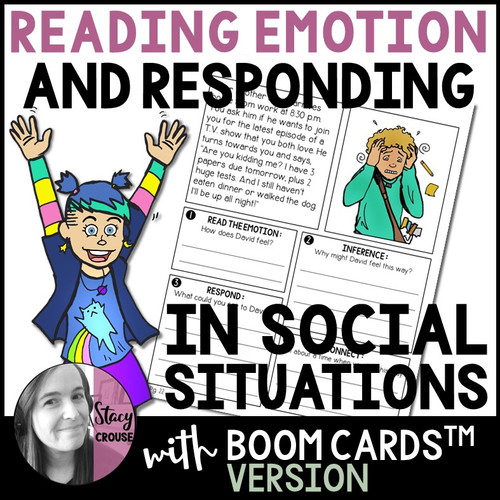 Reading Emotion and Responding in Social Situations with BOOM CARDS™