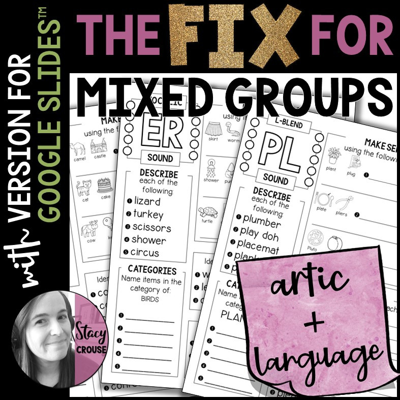 The Fix for Mixed Groups No Prep Speech and Language Pages for Google Drive™
