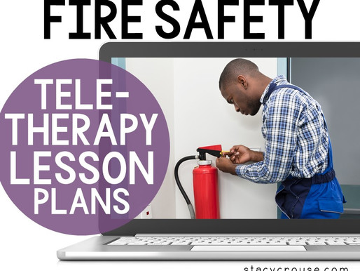 Fire Safety Lesson Plan Activities For Teletherapy