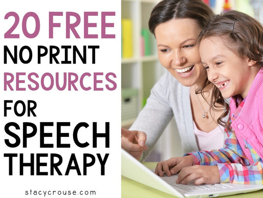20 Free No Print Resources for speech therapy