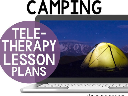 Camping Themed Lesson Plan Activities For Teletherapy