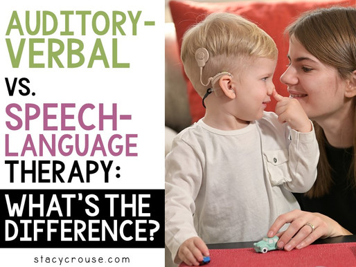 Auditory Verbal Therapy Vs. Speech-Language Therapy: What's the Difference?