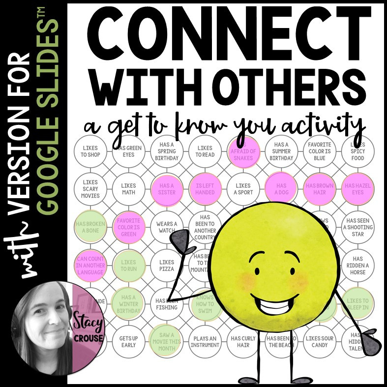 Connect With Others Get To Know You Activity Ice Breaker Speech Therapy