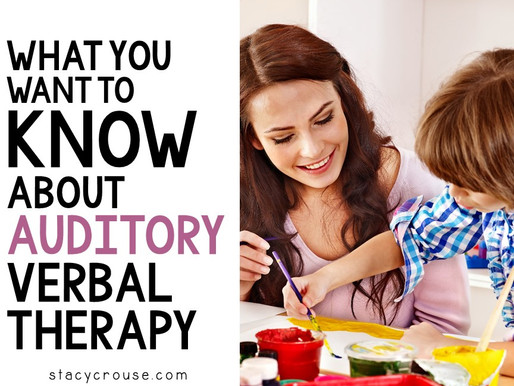 What You Want To Know About Auditory Verbal Therapy