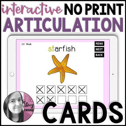 Interactive NO PRINT Articulation Cards
