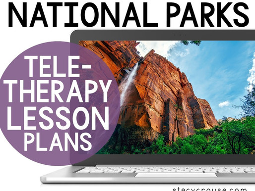 National Parks Themed Lesson Plan Activities For Teletherapy