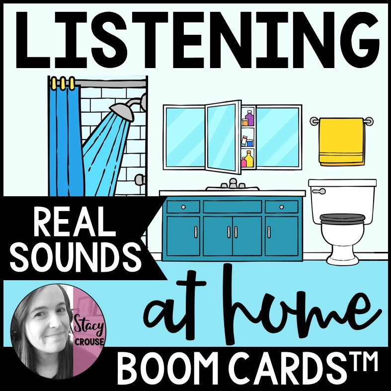 Listening At Home Environmental Sounds BOOM CARDS™