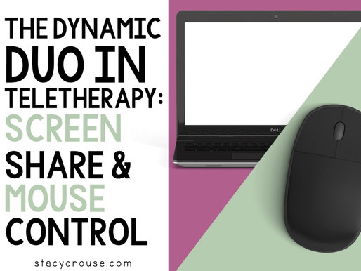 The Dynamic Duo in Teletherapy: Screen Share and Mouse Control