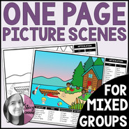 One Page Picture Scenes for Mixed Groups Articulation Language