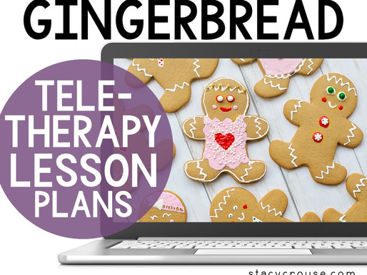 Gingerbread Man Themed Lesson Plan Activities For Teletherapy