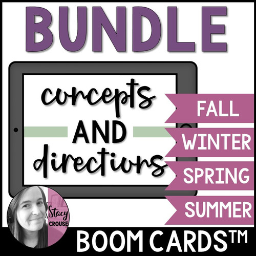BUNDLE Seasonal Concepts and Directions BOOM CARDS™
