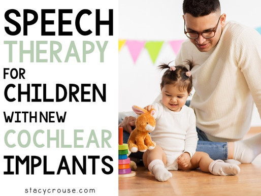 Speech Therapy For Children With New Cochlear Implants