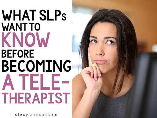 What SLPs Want To Know Before Becoming A Teletherapist