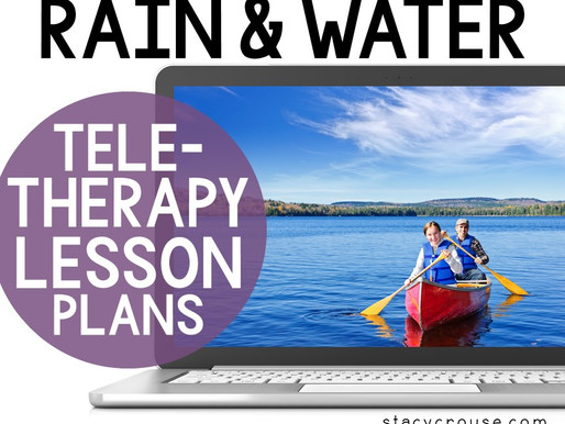 Rain and Water Cycle Lesson Plan Activities For Teletherapy