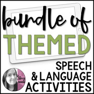 BUNDLE of Themed Speech and Language Interactive PDFs