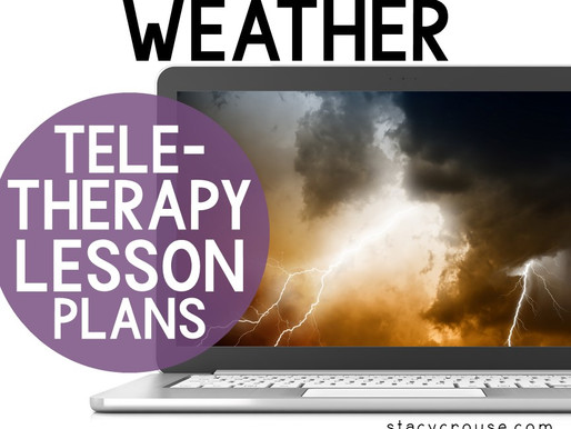 Weather Themed Lesson Plan Activities For Teletherapy