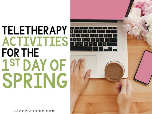 Teletherapy Activities for the First Day of Spring