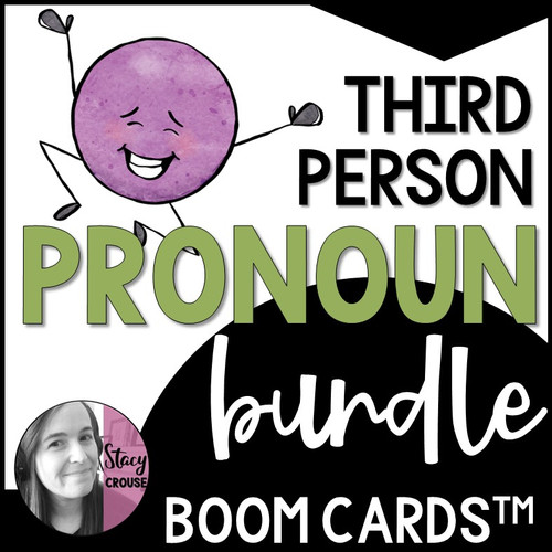 BUNDLE Third Person Pronouns BOOM CARDS™ Lessons and Activities