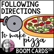 Following Directions To Make Pizza Boom Cards™