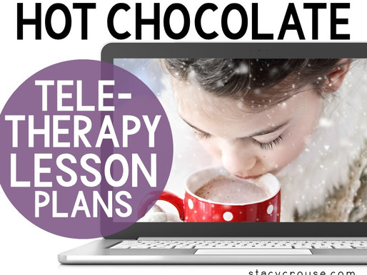 Hot Chocolate Themed Lesson Plan Activities For Teletherapy