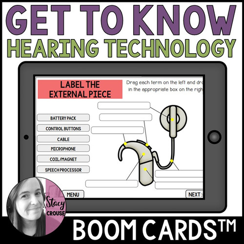 Get To Know Hearing Technology Boom Cards™