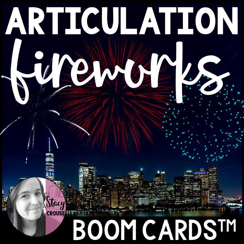 Articulation Fireworks BOOM CARDS™