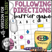 Following Directions Barrier Game for Google Drive™