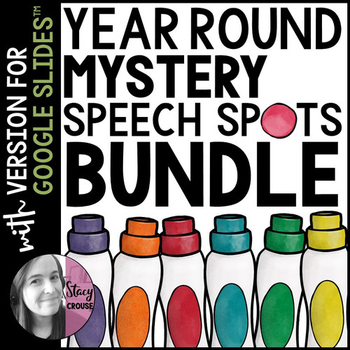 BUNDLE Mystery Speech Spots Articulation Activities with Google Drive™ Versions