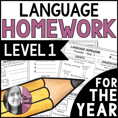 Language Level 1 Homework for the Year