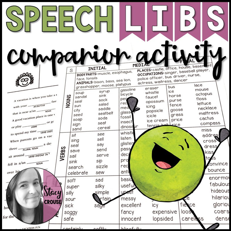 Speech Libs Companion Activity Articulation Game