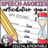 Speech-Agories Articulation Game
