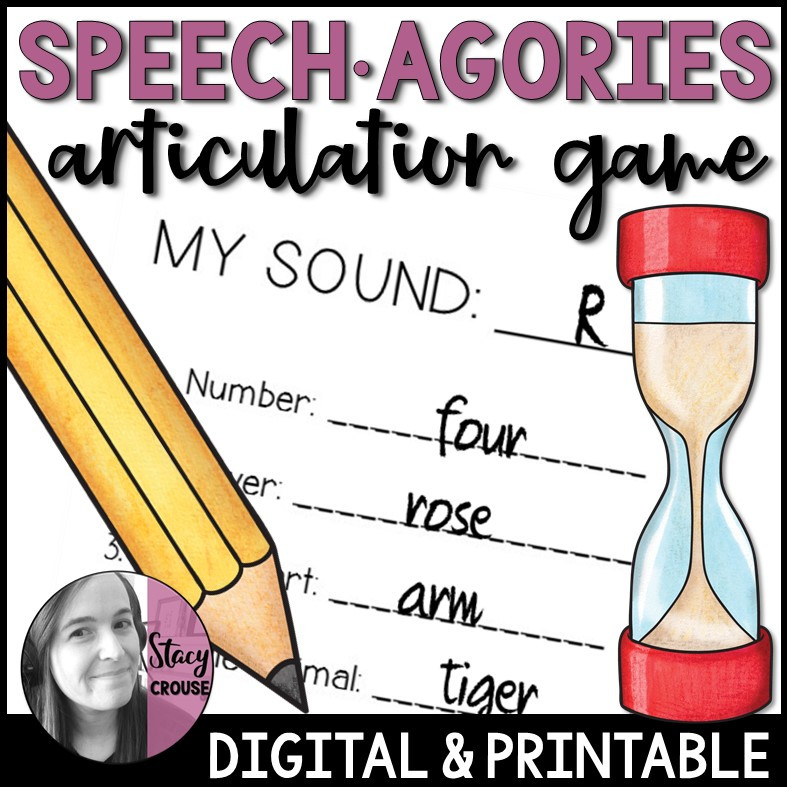 Speech-Agories Articulation Game