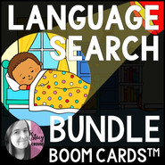 BUNDLE Themed Language Search BOOM CARDS™