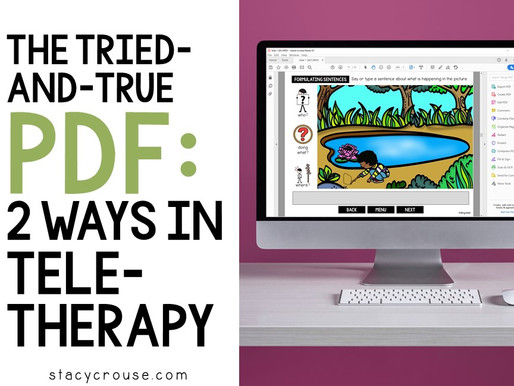 The Tried-and-True PDF: Two Ways in Teletherapy