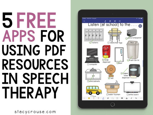 5 Free Apps for Using PDF Resources in Speech Therapy