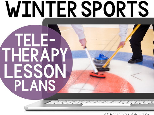 Winter Sports Themed Lesson Plan Activities For Teletherapy
