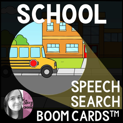 Back To School Speech Search Articulation Activity BOOM CARDS™