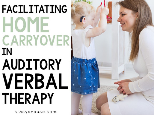 Facilitating Home Carryover in Auditory Verbal Therapy