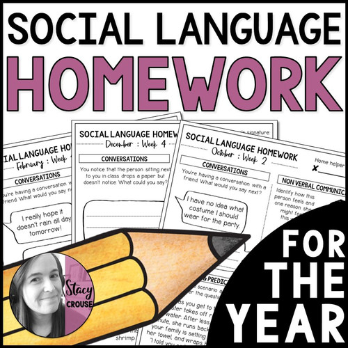 Social Language Homework for the Year