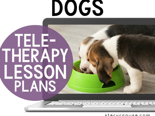 Dog Themed Lesson Plan Activities For Teletherapy