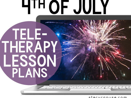 4th of July Lesson Plan Activities For Teletherapy