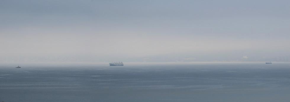 Fog over Valparaiso Bay