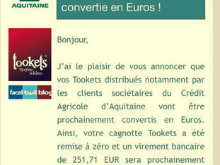 Cagnotte Tookets : Merci!