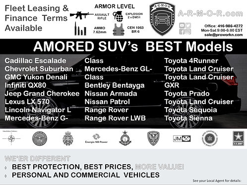 2020 Best in Class Armored SUV's