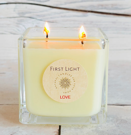 LOVE. Cube 29cl Soy Candle with Neroli & Vetiver Essential Oils