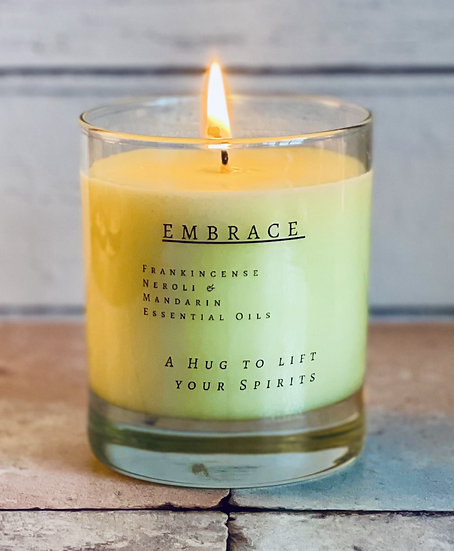 Embrace - 30cl Soy Wax Candle  Frankincense Mandarin  Neroli Essential Oils